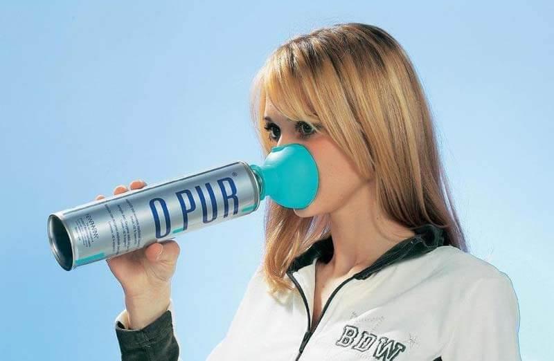 Oxígeno puro sin aditivos en botella